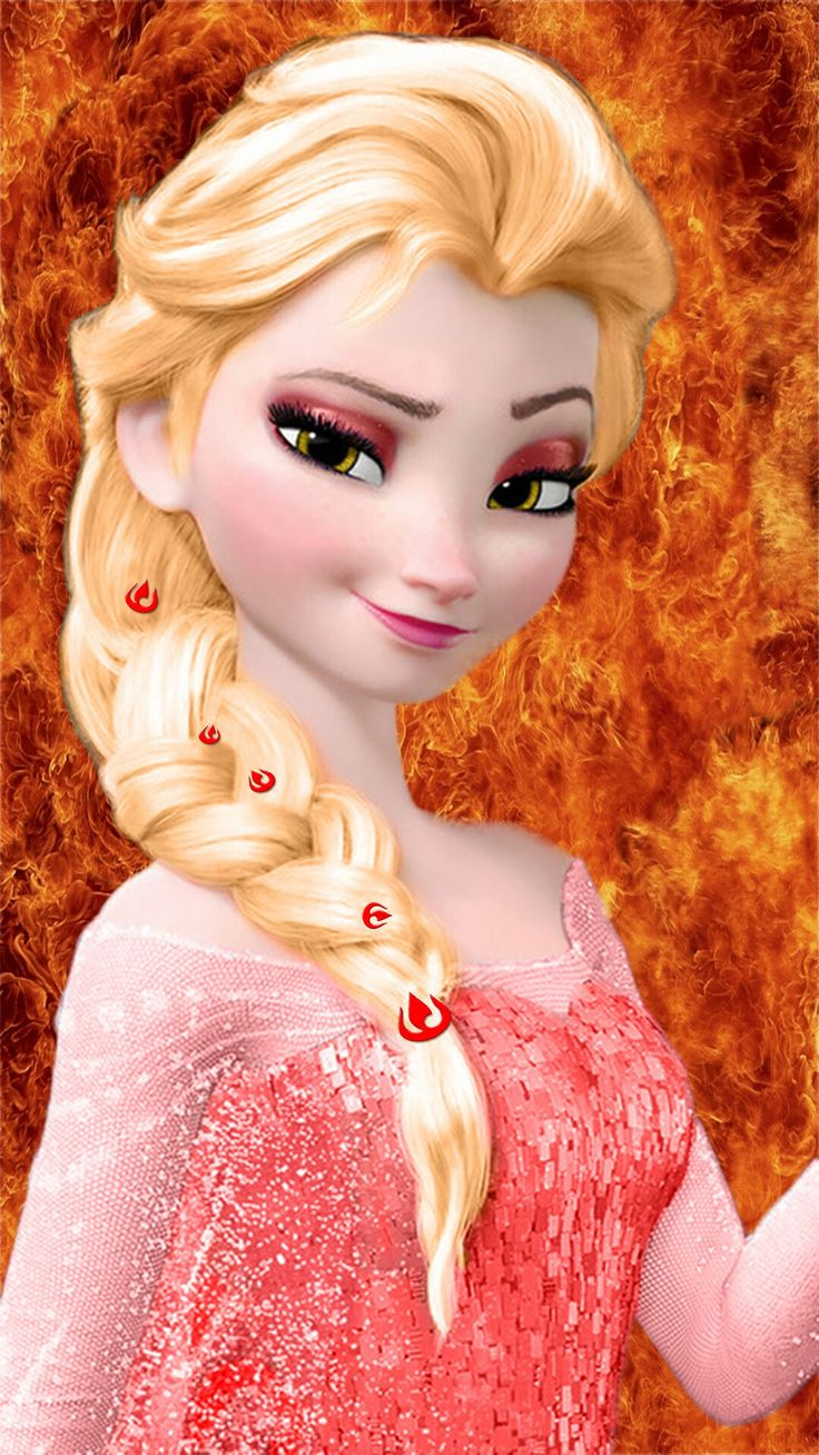 Frozen Fire Elsa Hahahahha With Fire Nation Symbols In