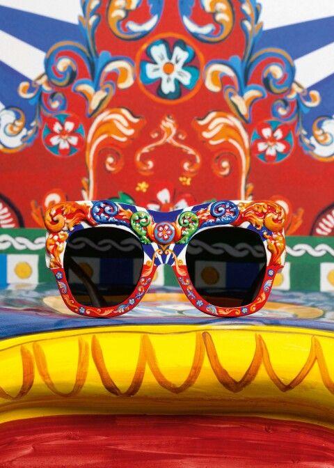 Dolce & Gabbana Summer 2016 Fashion Sunglasses inside the 'Sicilian Carretto' Women Collection.