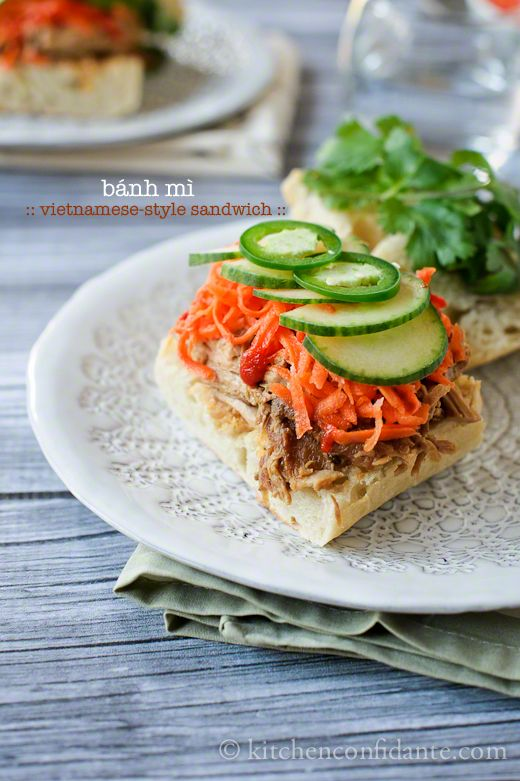 Bánh Mì :: Vietnamese-style Sandwich. It's all in the toppings. The slow cooked pulled pork doesn't hurt, either.