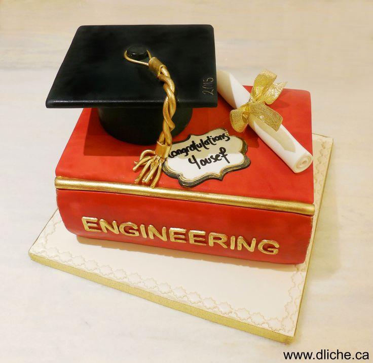 Gâteau de graduation pour un étudiant en ingénierie! A ...