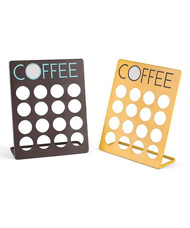Another great find on #zulily! Metal Single Serve Coffee Capsule Holder Set #zulilyfinds