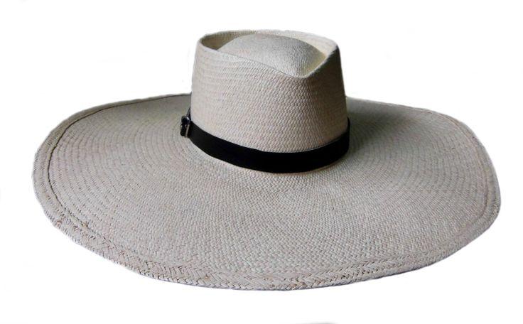 Marinera Panamahut, handgeflochten aus Toquilla-Palme, 1A Qualitaet Strohhut