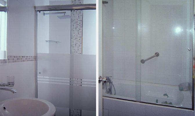 Puertas de ducha de vidrio templado