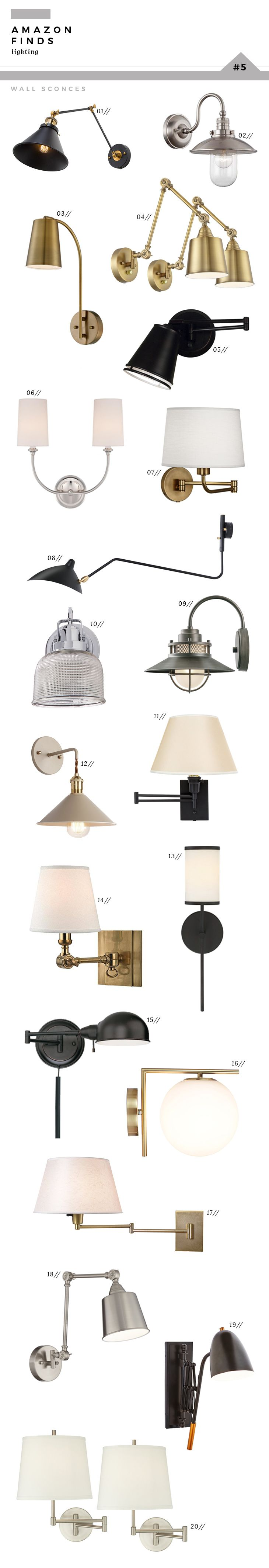 I'm sharing my very best Amazon Finds on the blog today. If you're in the need for lighting, this post is for you! Shop hundreds of products.