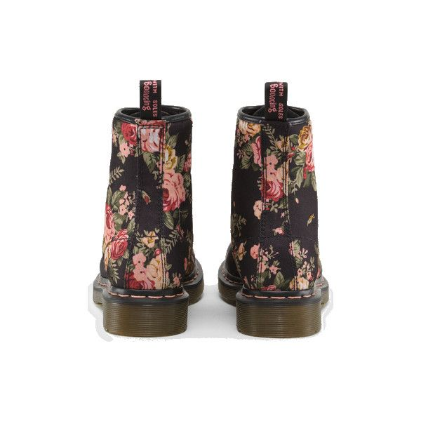 Dr Martens 1460 W Boot BLACK VICTORIAN FLOWERS - Doc Martens Boots and... ($130) ❤ liked on Polyvore