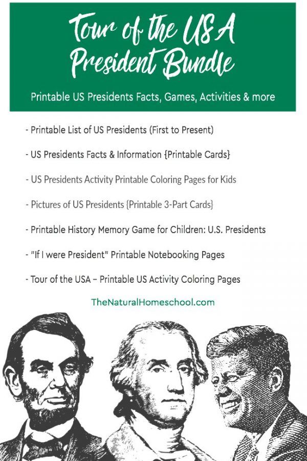 photo regarding Printable Pictures of Presidents identify Excursion of the United states ~ Printable Presidents Package deal Homeschool