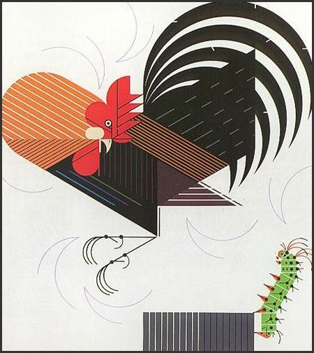 Crawling Tall signed & numbered - Serigraph Print, Charley Harper