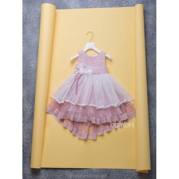 Dolce Bambini βαπτιστικό φόρεμα σε μοντέρνα γραμμή και αποχρώσεις από τούλι και δαντέλα, Οικονομικά βαπτιστικά ρούχα κορίτσι, Βαπτιστικά φορέματα τιμές, Βαπτιστικά για κορίτσι προσφορά, Βαπτιστικά eshop επώνυμα και οικονομικά