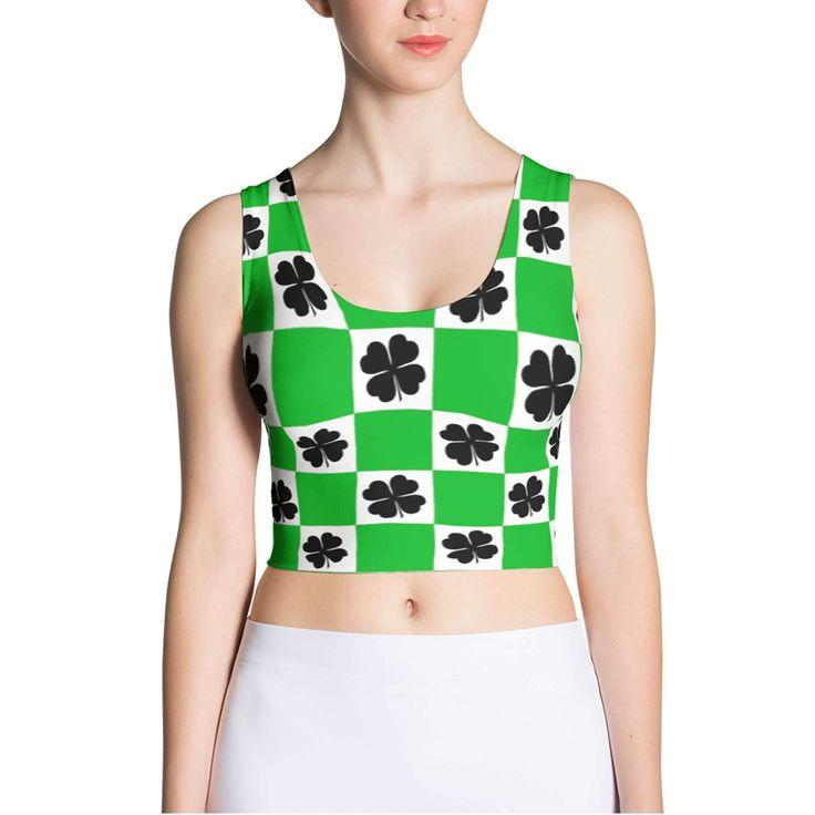 St Patricks Day Shamrock Tank Top - Clover Print Shirt - Saint Patricks Day Shirt - Shamrock Shirt