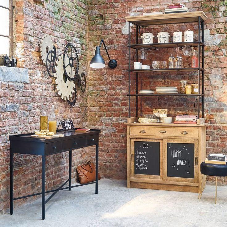 desserte haute germain en manguier massif meuble de. Black Bedroom Furniture Sets. Home Design Ideas