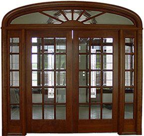 Homestead Cherry Double Exterior Wood Door!