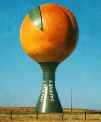 Georgia.  I do love the Peach State!: Water Towers, Giant Peach Capped Water, Georgia Peach I, Carolina Girl, Georgia Booty Peach, Peach Watertower, Place, Peaches, South Carolina
