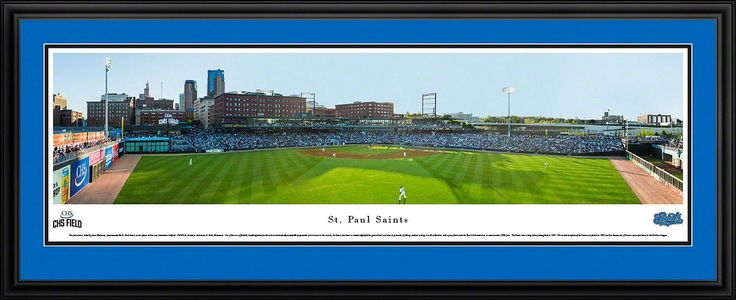 St. Paul Saints Panoramic Picture Framed