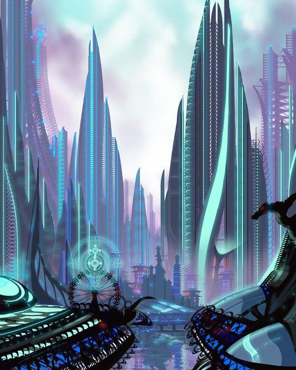 Futuristic City, Transia by James Hill.