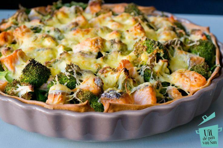 Zin in quiche maar wil je ook gezond doen? Probeer dan deze zalm quiche met broccoli, raapstelen en groene asperge eens. Echt een aanrader!