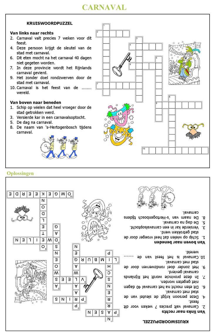 Kruiswoordpuzzel : CARNAVAL