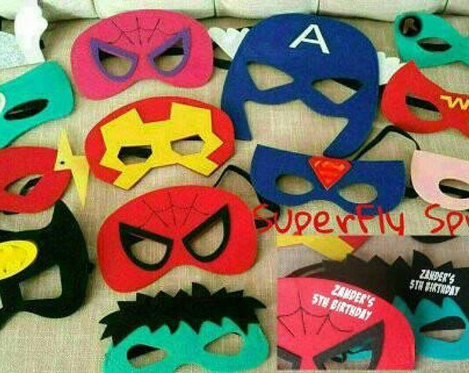 Personalized Avengers Felt Masks Avengers Birthday Party