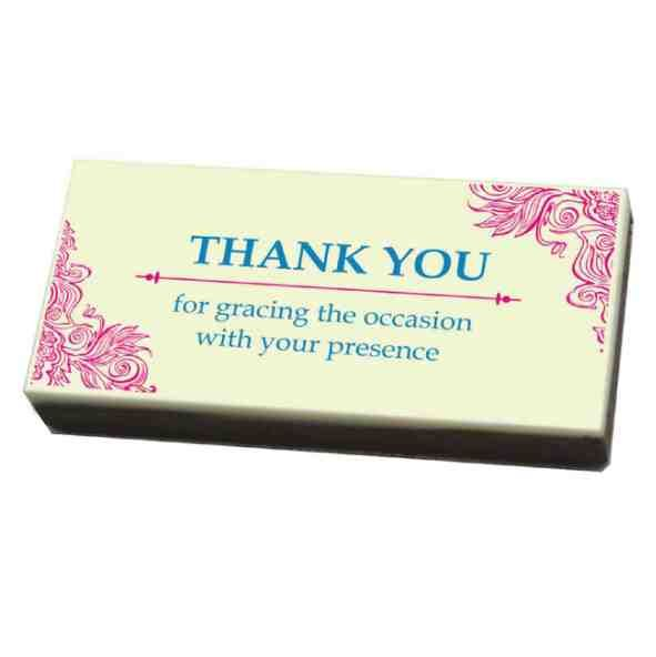 Every couple wants to make their wedding special.Printed chocolates are a new concept and make for awesome wedding return gifts. We specialize in custom made chocolates and hence can craft the chocolates as you want to make the most special and personalized wedding return gift.Place your order today to surprise the guests at our wedding with the best wedding return gift idea ever. https://www.chococraft.in/pages/return-gifts-for-weddings
