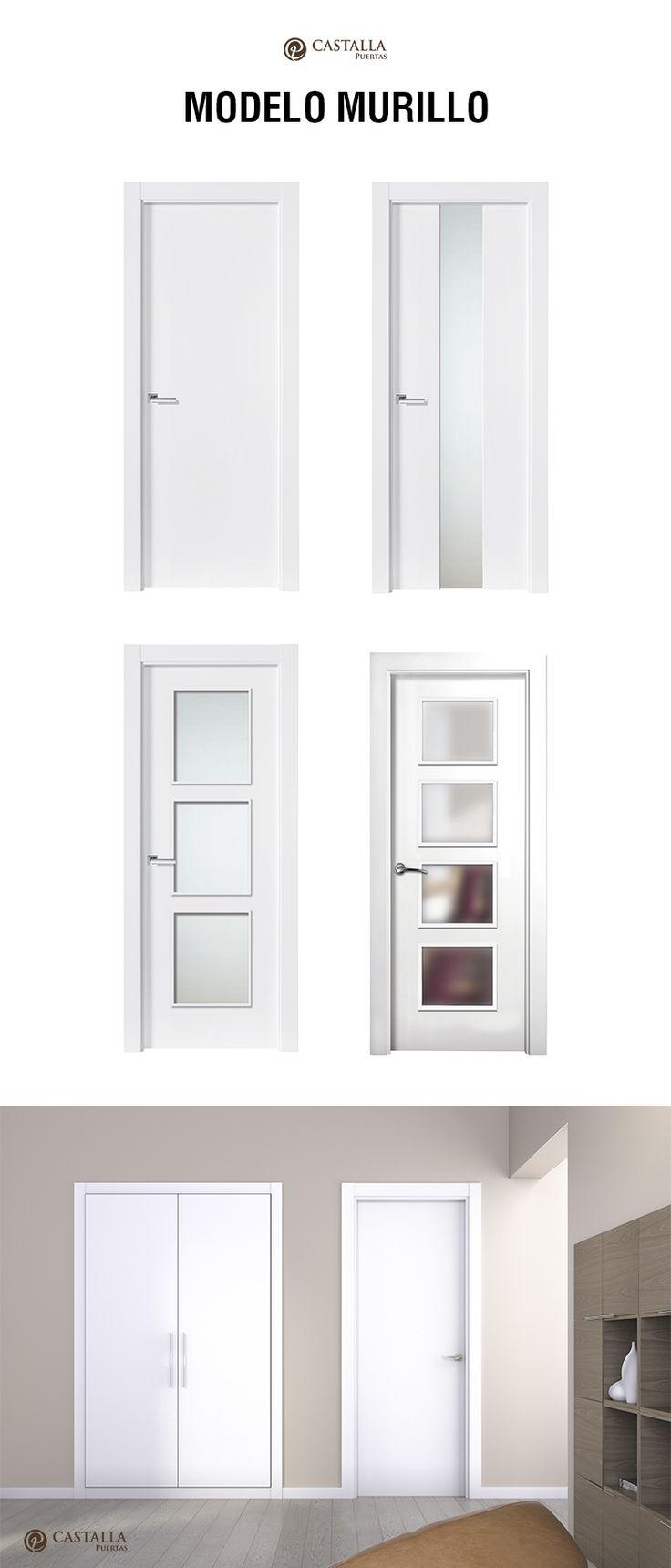 Puerta de interior con cristal Modelo MURILLO. Puertas Castalla | Glass interior door MURILLO. Castalla Doors