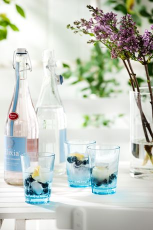 Zestaw 4 szklanek GRAND CRU - turquoise - DECO Salon. Set of four turquoise glasses, perfect for serving drinks and cold drinks. #rosendahl #kitchen #kuchnia