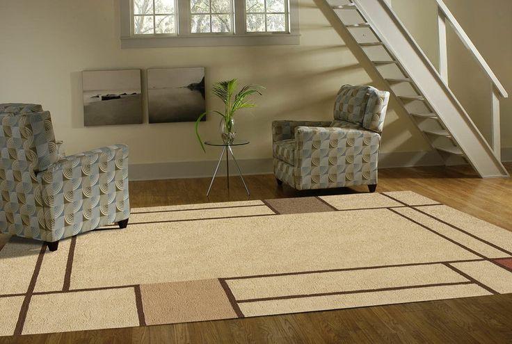 Beige-Brown Indoor Outdoor Carpet Large Size