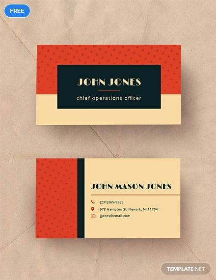Free Vintage Business Card Business Card Templates Designs 2019