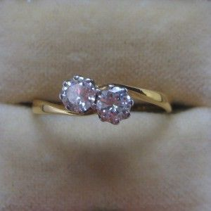 Two stone diamond cross over engagement ring 0537