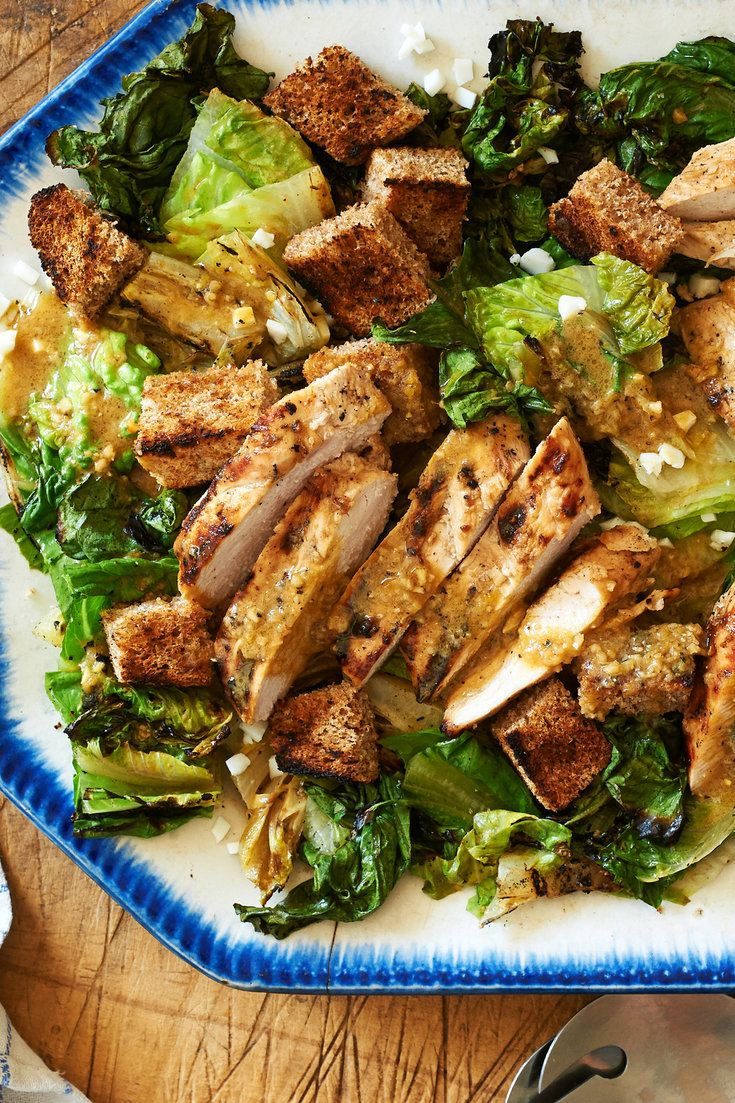 A classic Caesar salad touched by the heat of the grill. (Photo: Melina Hammer for The New York Times)