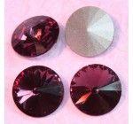 Távolkeleti kristály rivoli 10mm-es - ametisztlila (Amethyst) - 1db