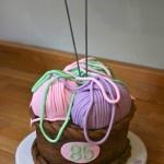 Knitting lovers cake  www.thelittlevillagecakery.co.uk
