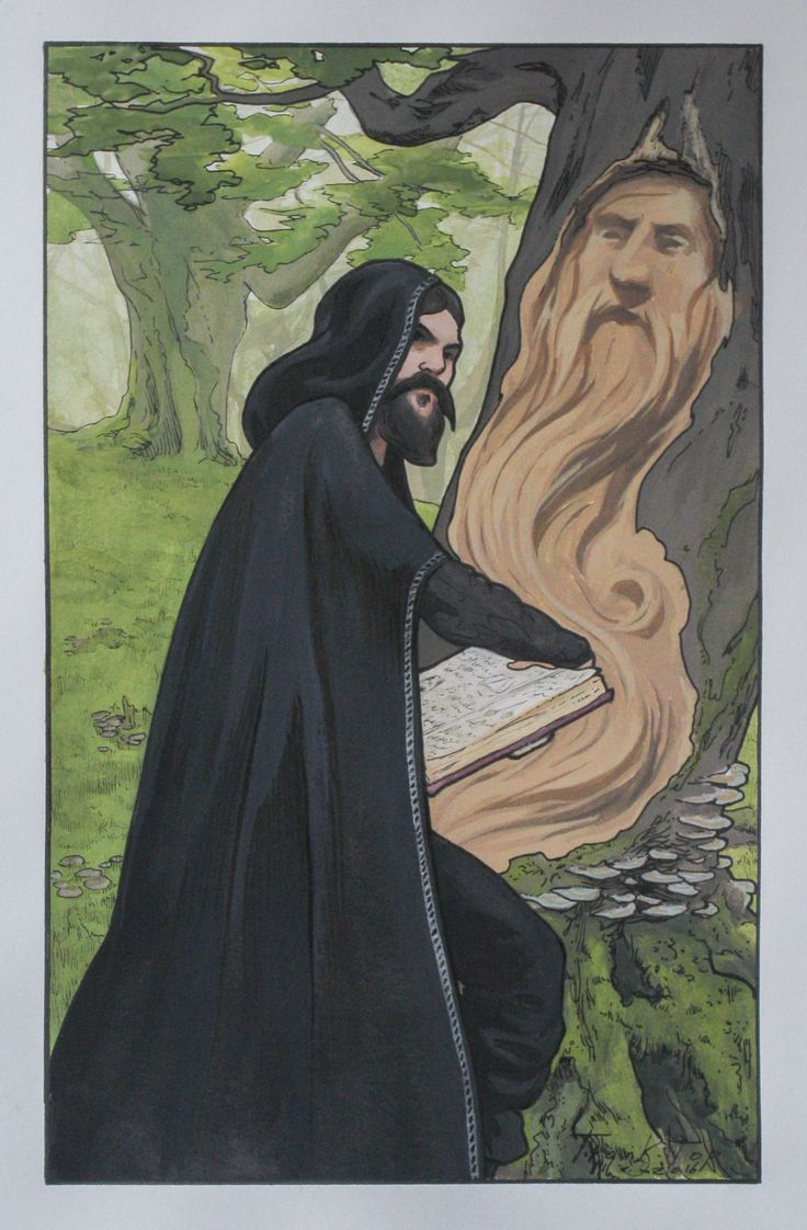 Incantation - 18.7x29.5cm (30x40cm with frame), gouache and fine liner on paper, 2016. See www.franktopart.com for availability and pricing.