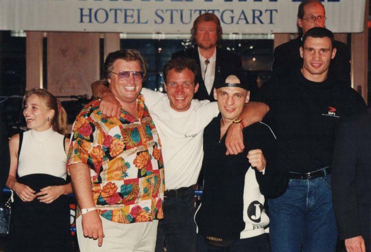 Mit Regina Halmich, Markus Bott, Branko Sobot und Vitali Klitschko im Stuttgarter Maritim Hotel