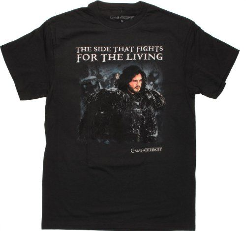Game of Thrones Fights for Living Mens Black T-Shirt Small @ niftywarehouse.com #NiftyWarehouse #GameOfThrones #Fantasy #TVShows #HBO #Show