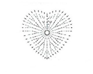 crochet corazon chart.. ❤CQ #crochet #hearts #valentines #love…