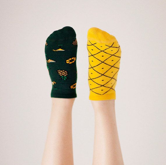 Many Mornings  Pineapples Low by ManyMornings on Etsy. Whenever you buy a pair of MANY MORNINGS socks, we will donate a pair to a children's home, homeless organisation, or wherever we find those in sore need of warm feet.