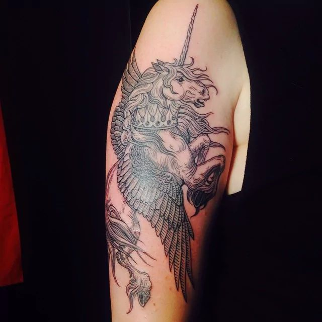 Pegasus Tattoo: 36 Best Phoenix & Pegasus Tattoos Images On Pinterest