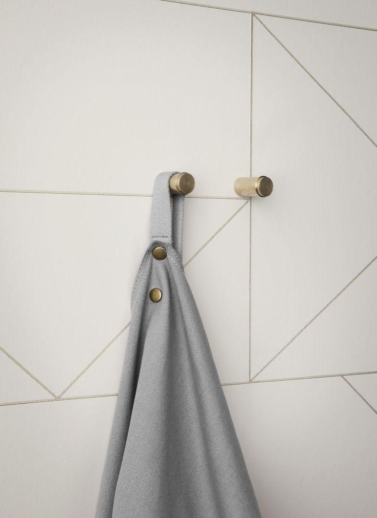 Ferm Lines Off-white - Grafisk tapet - Tapetkunst.dk