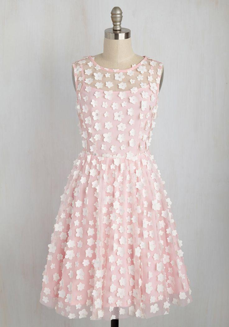 Petal Patter A-Line Dress, #ModCloth