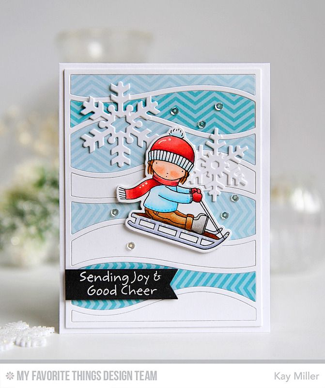 Dashing By, Dashing By Die-namics, Let It Snowflake Die-namics, Pierced Fishtail Flags STAX Die-namics, Snow Drifts Cover-Up Die-namics - Kay Miller  #mftstamps