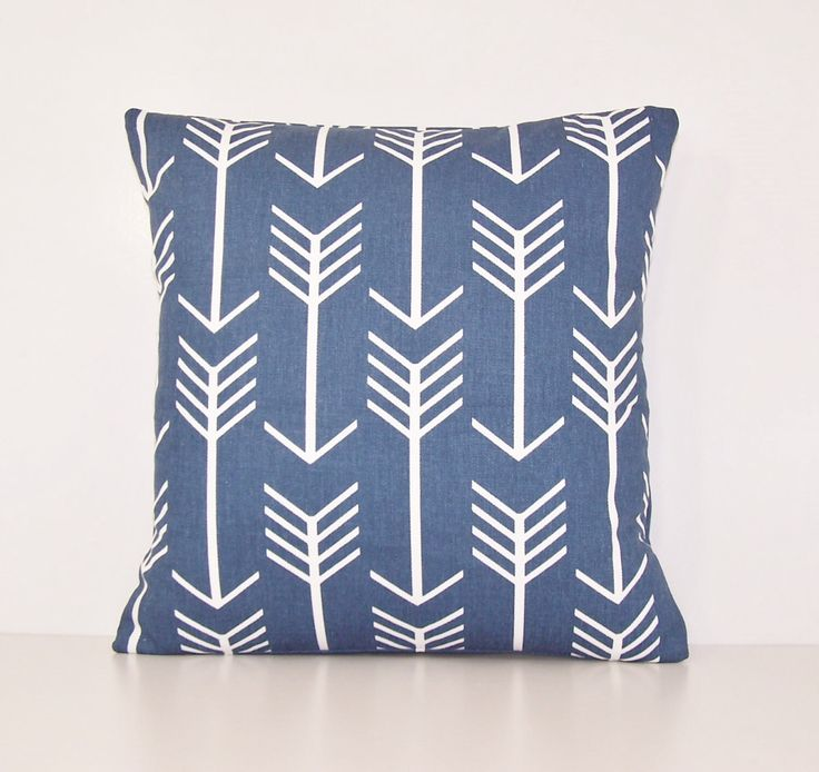 Navy Arrow Pillow Cover, Euro.Sham, Lumbar,18 x 18, 20 x 20, 24 x 24,  Pillow Insert, Premier Prints Fabric, Navy and White,Indian,Cowboy by Cathyscustompillows on Etsy https://www.etsy.com/listing/264125619/navy-arrow-pillow-cover-eurosham