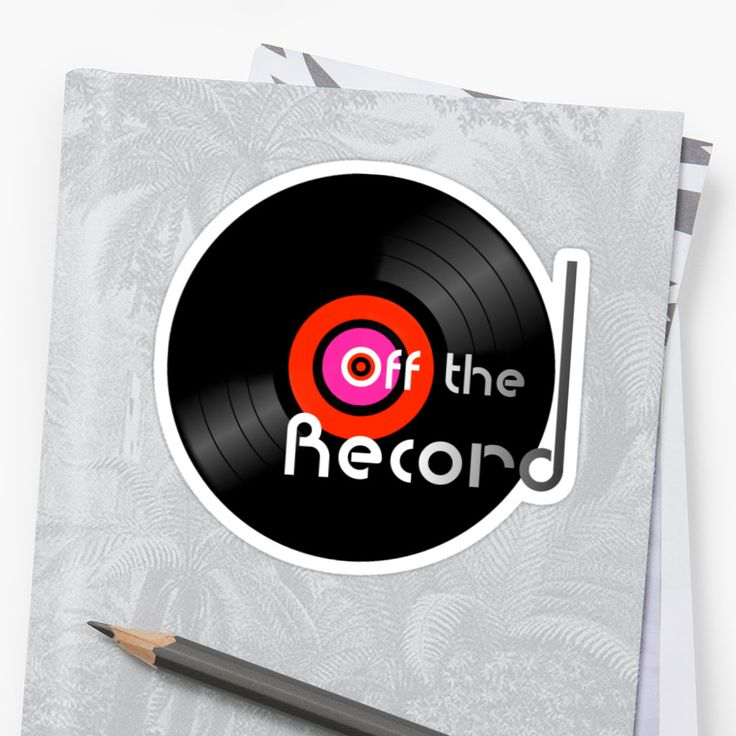 NEW! 'OFF THE RECORD' Sticker design available @redbubble   #redbubble #records #vinyl #retro #offtherecord #music #wax #45s #33s #stickers #vinyladdict #vinylporn #vinylfans #nowplaying #nowspinning