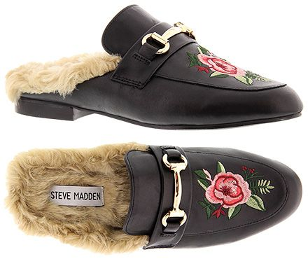 """Steve Madden """"Jill-P"""" Floral Embroidered Loafer Mules: http://amzn.to/2qtW3p0 