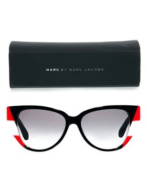 Image 2 of Marc By Marc Jacobs Colour Block Cateye Sunglasses