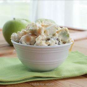 TABLE for SEVEN: Snickers Taffy Apple Salad recipe