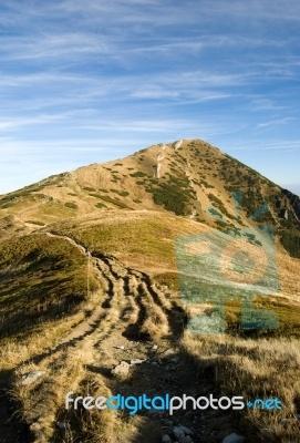 Mala Fatra Mountains In Autumn. Mountains in Slovakia, Europe.