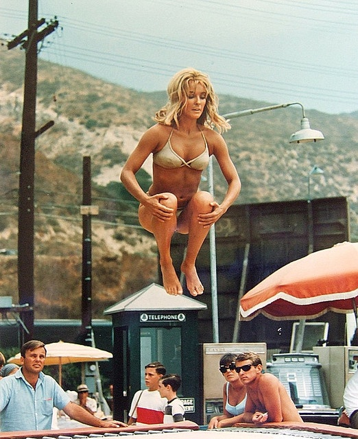 Sharon Tate on Trampoline by encanto_sunland,