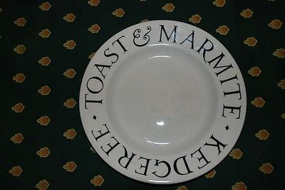 Early rare Emma Bridgewater 'Toast and Marmite' plate - sample prototype (11/04/2012)