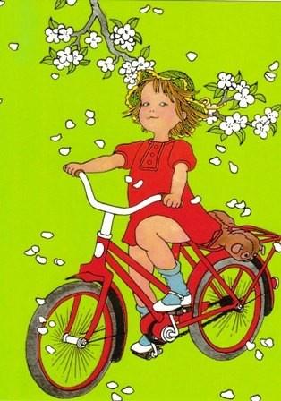 Lotta kan al fietsen - Ilon Wikland - Kaart