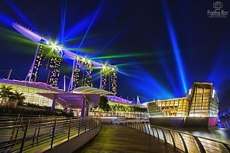 Singapore light show in HDR