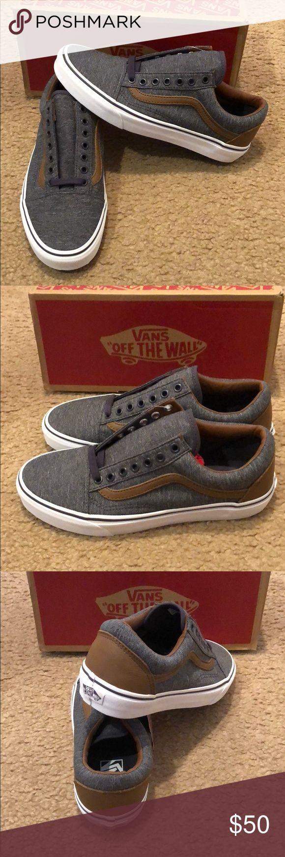 Denim C&L Old Skool Vans New in box. Periscope/dachshund Vans Shoes Sneakers